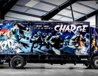 Banksy vrachtwagen verkoopt niet op een veiling